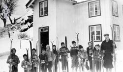 Brunkeberg sundagskule på tur i 1958 - #KvH 03-033 b