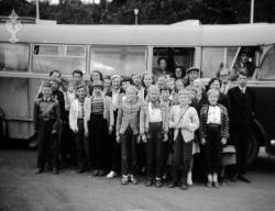 Tveitgrend og Brunkeberg skule på tur 1957 - #KvH 096 b