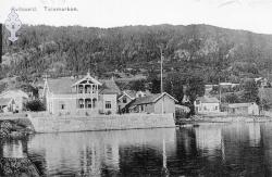 Postkort Kviteseidbyen Bruka 1909 - KvH 02-071 b