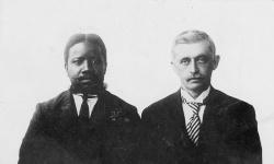 Afrikaner i Kviteseid Enock Mtewa Knut Salvesen - #KvH 05-063 b