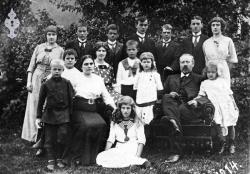 Berglandfamilien Aslak prest 1914 - #KvH 05-010 b
