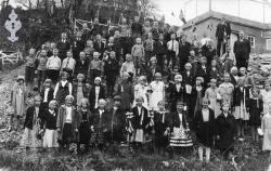 17 mai 1934 på Moen skule - #KvH 08-001 b