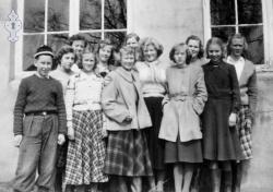 Kveldskurs på Moen skule 1945 46 - #KvH 080 b