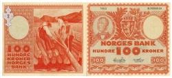 100kr setelen frå Kviteseid - #KvH 07-022  b