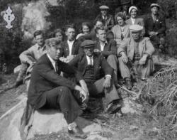 Vegvaktarar på tur til Rauland 1946 - #KvH 03-028 b