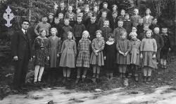 Brunkeberg skule 1932 33 - #KvH 049 b