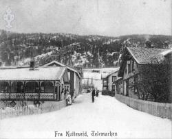 Postk Kviteseidbyen 1910 - KvH 02-010 b